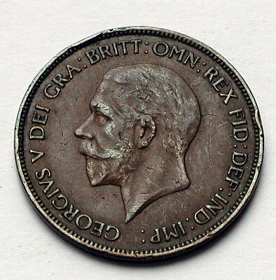 1936 UK (Great Britain) George V Coin - One Penny (1d)