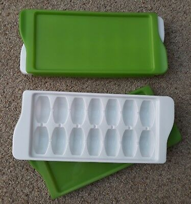 OXO Tot Baby Food Freezer Trays - White/Green 2 Pieces - Weaning