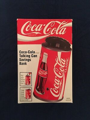 NIB Vintage 1997 Coca-Cola Coke Talking Can Savings Bank - Free Shipping!
