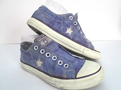 Primo Distressed Converse All Star One Star Women's Size 7 Purple Shoes Low Top