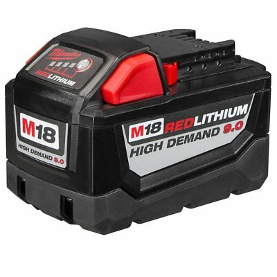 NEW Milwaukee Tool 48-11-1890 M18 18V Red Lithium-Ion High Demand 9.0Ah Battery