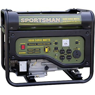 Gasoline 4000W Portable Generator 120v Outlets Power Electric Sportsman