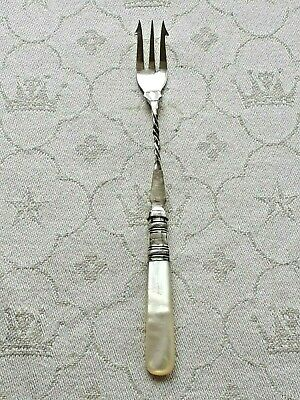 Harrison Fisher vintage deli fork with mother of pearl handle