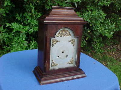 Huge Victorian English German Mahogany Striking Bracket Clock Horologist