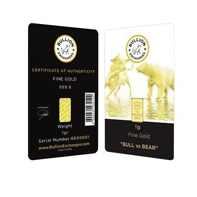 "1 Gram Bullion Exchanges ""BULL vs BEAR"" Istanbul Gold Refinery (IGR) .9999 Gold"