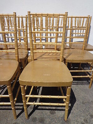 Dining Chairs Chinese Chippendale Bamboo Coastal Chic Mid Century Regency Gold
