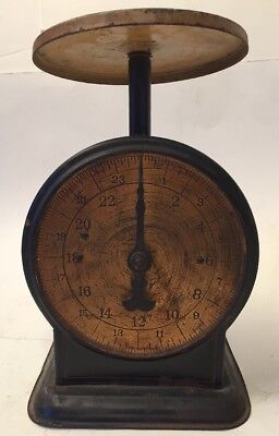 Vintage / Antique John Chatillon & Sons New York 24 Pound Brass face Scale WORKS