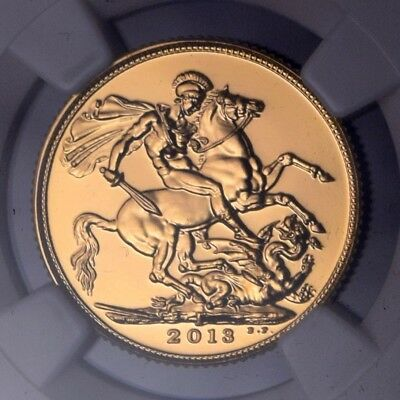 2013 I India 1 Sovereign Gold Coin Ngc Ms69