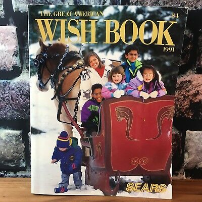 Vtg SEARS CATALOG ~ THE GREAT AMERICAN WISH BOOK ~ 1991 / CHRISTMAS / TOYS