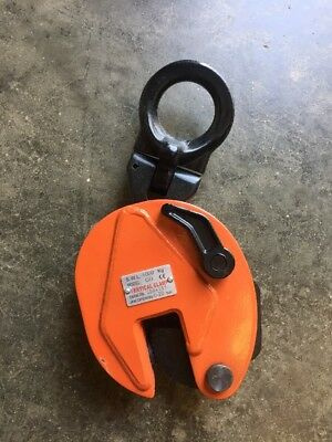 """1 Ton Plate Lifting Clamp, Grip 0-3/4"""""""