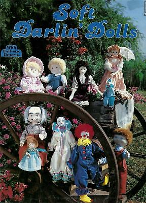 "Vintage Soft Darlin' Dolls Sewing Pattern Booklet for 8 1/2"" to 22"" Doll Making"