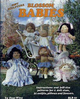 "Vintage Blossom Babies 18"" & 24"" Soft Sculpture Doll Pattern Booklet Faye Wine"