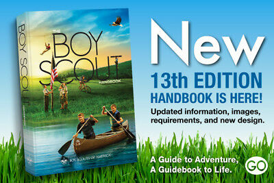 Newest Edition 13th Edition The Official Boy Scout Handbook  Perfect Bound New
