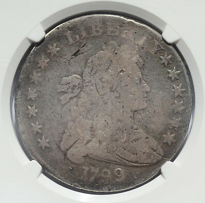 1799 Draped Bust, large eagle Dollar NGC Certified Genuine