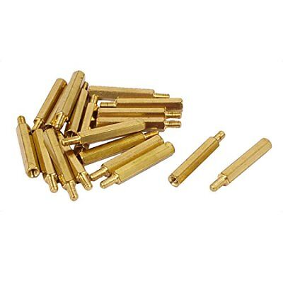Uxcell M3 X 25Mm+6Mm Male To Female Brass Pcb Spacer Hex Standoff Screw Pillar 2