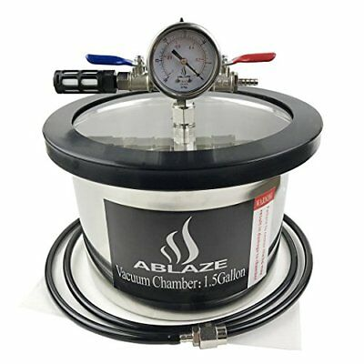 Ablaze 1.5 Gallon Gal Vacuum Chamber Stainless Steel Degassing Urethanes Silicon