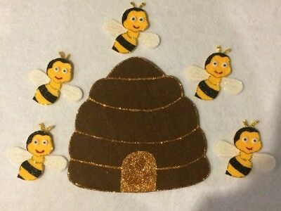 Felt Board Story/nursery Rhyme Teacher Resource - Here Is The Beehive