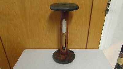 Large Vintage Wood & Glass Sand 10 Minute Timer - 14in Tall