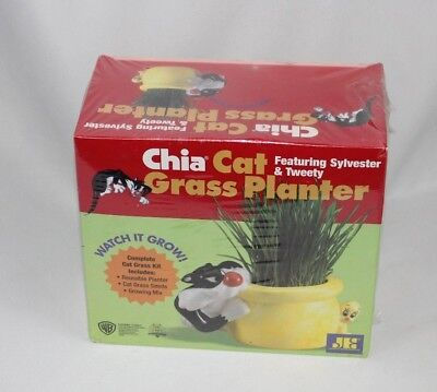SEALED NEW Chia Cat Grass Planter Featuring Sylvester & Tweety NIB As Seen on TV