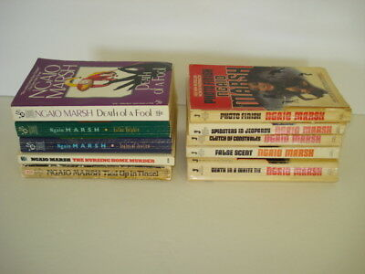 Vintage Ngaio Marsh Paperback Book Lot Of 10
