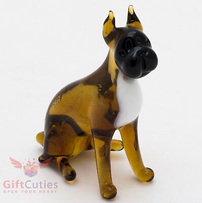 Art Blown Glass Figurine of the Boxer dog