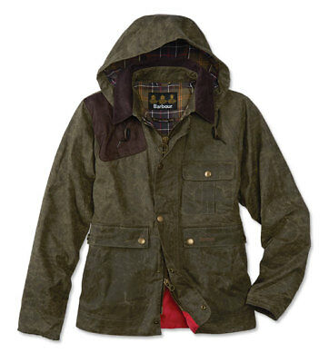 Barbour for J.Crew Ware Jacket in Olive Waxed Cotton Size SMALL $375