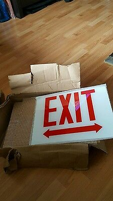 5 New Nos Glass Replacement Exit Sign Lot