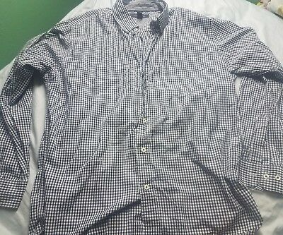 a38ad1848 Tommy Hilfiger Men's Button Up Dress Shirt Blue Green Red White Plaid Slim  Fit L