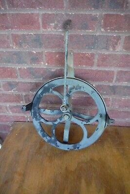 Vintage Cast Iron Wheel Sewing Machine Pulley Antique Tools Steam Punk