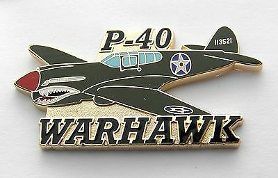Curtiss P-40 Warhawk Kittyhawk Fighter Aircraft Large Lapel Pin Badge 2.25 Inch