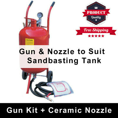 Sandblasting Gun Kit With 4 Replacement Ceramic Nozzles For Sand Blaster Tank