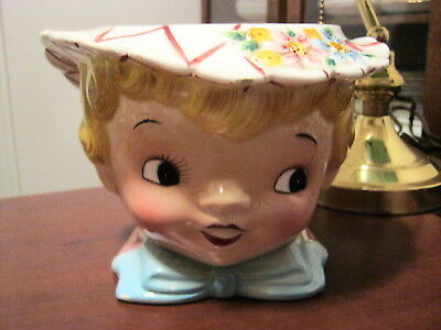 "Lefton 1950's  ""dainty Miss"" Cookie Jar Bottom Only      No   Lid"