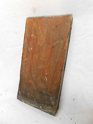 Antique Door/Window Rosette Plinth Block - 1885 Butternut Architectural Salvage