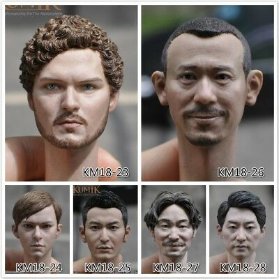 KUMIK 1//6 Male Head Sculpt W Neck KUMIK18-1//4//5//6//7//8//9//10//11 F 12/'/' Figure