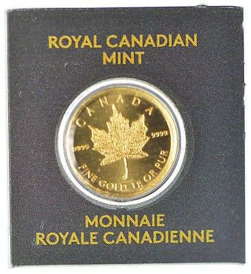 2015 · Royal Canadian Mint Maple Gram Gold Coin In Assay Card · Canada Maplegram