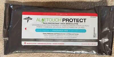 Medline Aloe Touch Protect Hypo Allergenic Fragrance Free Washcloths 8 In Pack