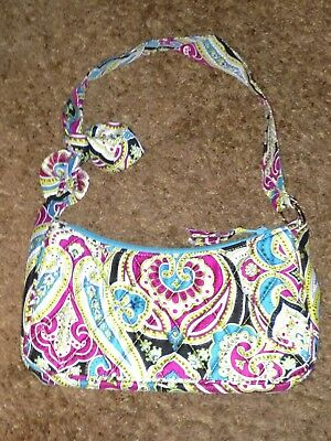 905105136a3c Vera Bradley Limited Edition Silk Paisley Collection Daphne EUC Turquoise  Pink