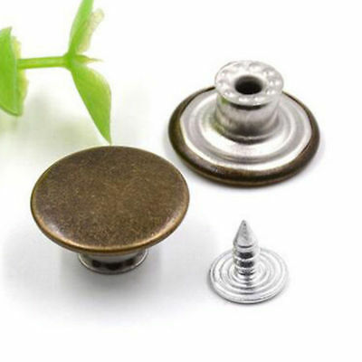 No Sew Mixed Style Replacement Metal Studs Jeans Pants Buttons 20mm 5/20/50pcs