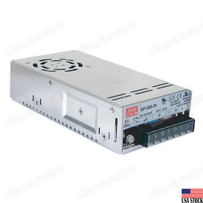 MEAN WELL SP-200-24 Single Output PFC Function  Power Supply AC/DC 200W 24V 8.4A