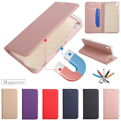 For Sony Xperia XA/XZ Premium Magnetic Flip Leather Wallet Card Case Stand Cover