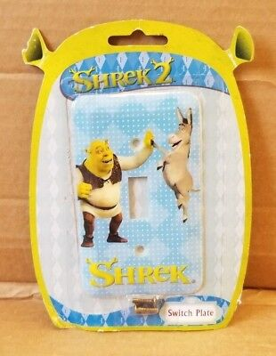 DreamWorks SHREK 2 Light Switch Plate Plastic Cover Blue Donkey 2004 NEW