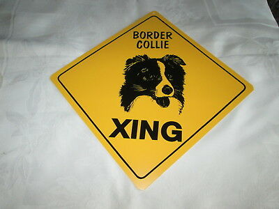 **border Collie Crossing Xing Sign #7 - New**