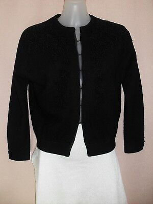 1950's Vintage Beaded Cardigan with 3/4 Sleeves.