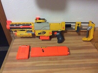 Vintage Nerf N-Strike Recon CS-6 Dart Blaster Gun With 3 Magazine Clips & Darts