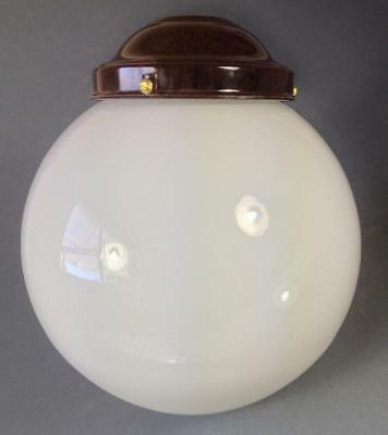 Vintage art deco cased milk glass ceiling light/standard lamp shade