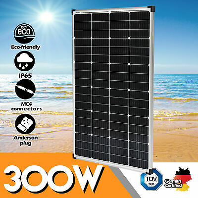 12V 300W Solar Panel 300 Watt Mono Caravan Camping Home Battery Charging Power