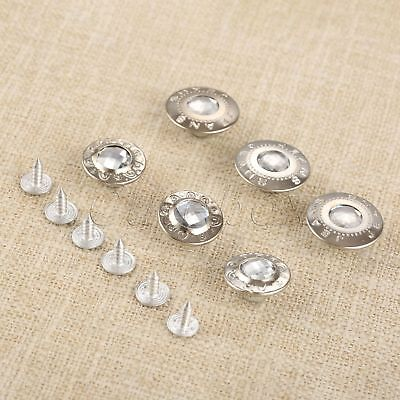 50Pcs 17mm 20mm Silver Jeans Buttons Handbag Buckles Clothes Leather Craft DIY