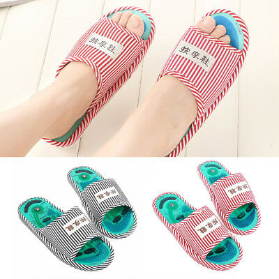 Massage Slippers Acupuncture Sandals Reflexology Foot Acupoint Health Shoes  AU