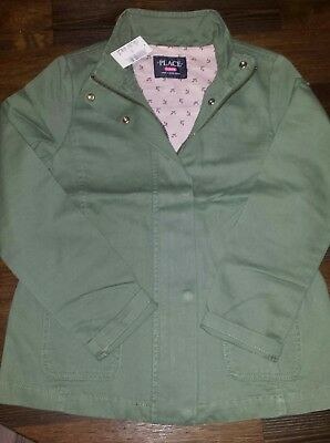 NWT's Childrens Place Olive Green Utility Jacket Size L 10/12