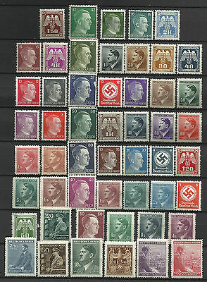 GERMANY ADOLF HITLER ERA STAMP COLLECTION  PACKET of 50 DIFFERENT Stamps MNH